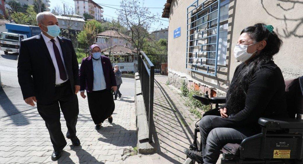 Başkan Büyükgöz Ayşenur'a misafir oldu